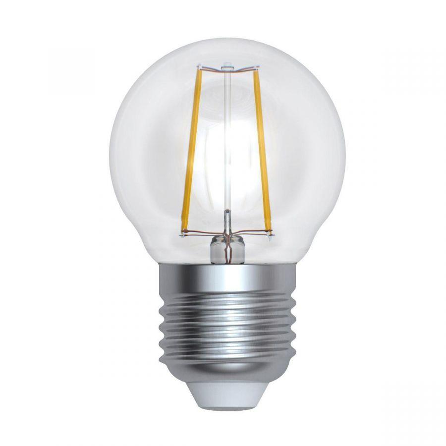 Лампа светодиодная диммируемая (UL-00005194) E27 9W 4000K прозрачная LED-G45-9W/4000K/E27/CL/DIM GLA01TR