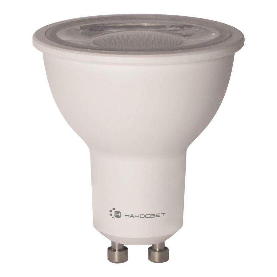 Лампа светодиодная диммируемая Наносвет GU10 8W 2700K прозрачная LH-MR16-D-8/GU10/827 L242