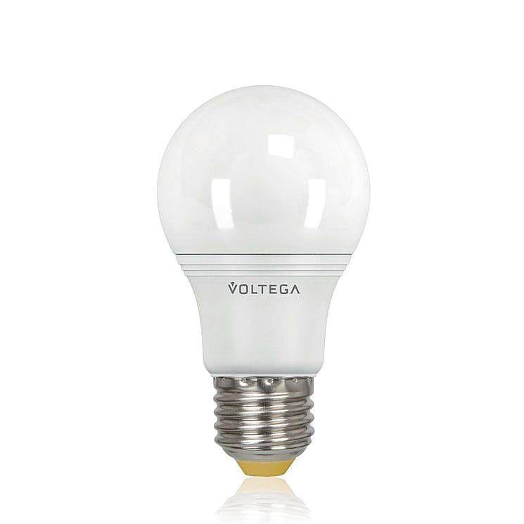 Лампа светодиодная Voltega E27 9W 4000К груша матовая VG2-A2E27cold9W 8443