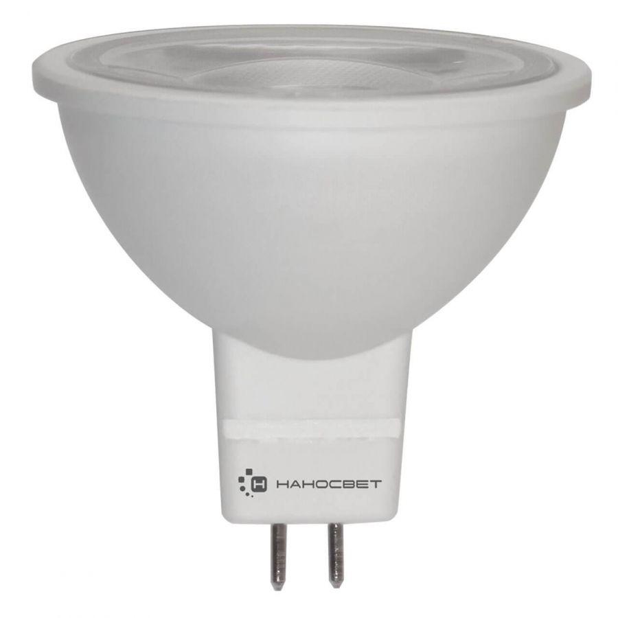 Лампа светодиодная Наносвет GU5.3 8,5W 4000K прозрачная LH-MR16-8.5/GU5.3/840/12V L285