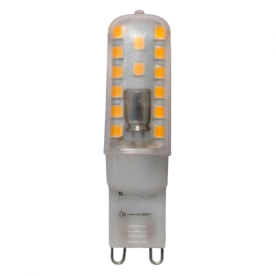 Лампа светодиодная Наносвет G9 2,8W 4000K прозрачная LC-JCD-2.8/G9/840 L227