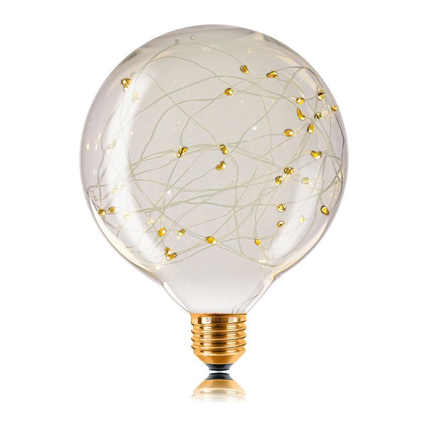 Лампа светодиодная филаментная E27 2W 2700K прозрачная 057165