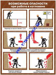 Возможные опасности при работе в котловане