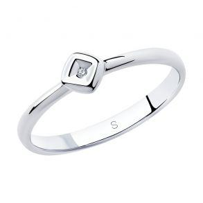 Кольцо из серебра с бриллиантом 87010025 SOKOLOV