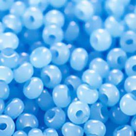 Бисер чешский 02134 голубой алебастровый Preciosa 1 сорт купить оптом