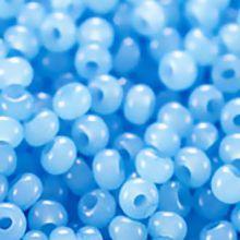 Бисер чешский 02134 голубой алебастровый Preciosa 1 сорт