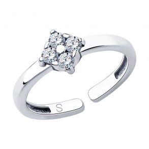 Кольцо из серебра с фианитами 94013063 SKLV