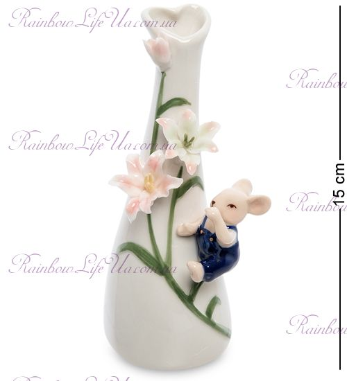 "Ваза мышонок с цветами ""Pavone"""