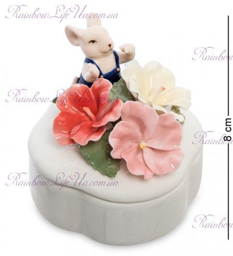 "Шкатулка мышонок с цветами ""Pavone"""