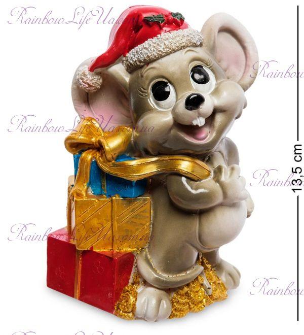 Копилка мышка дед Мороз с подарками