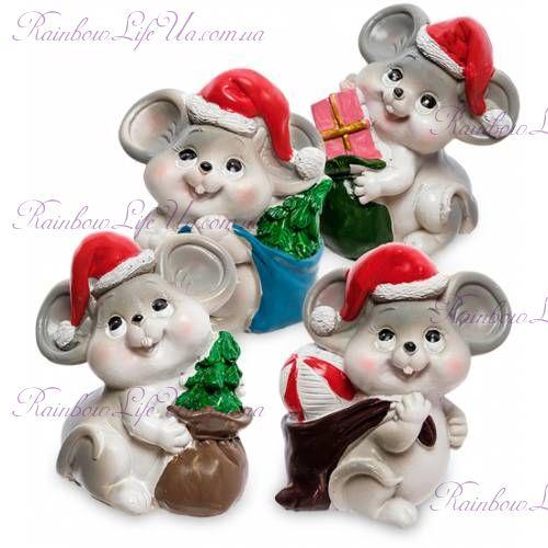 Фигурка мышка дед Мороз с мешкомФигурка мышка дед Мороз с мешком