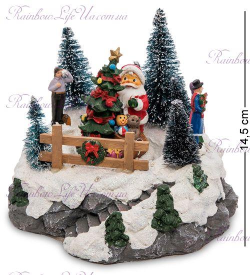 """Музыкальная новогодняя миниатюра с подсветкой """"Санта"""""""