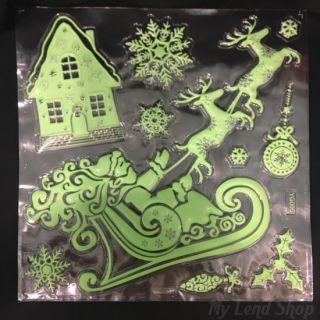 Набор новогодних наклеек Merry Christmas, 30х40 см, Новогодние Сани