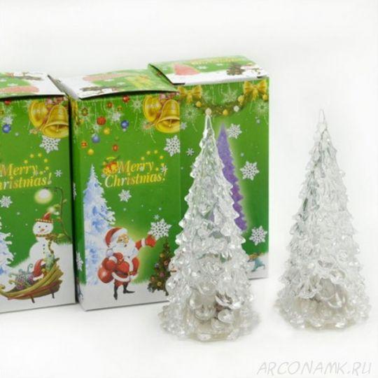 Светящаяся светодиодная ёлочка с шишками Marry Christmas, 16 см
