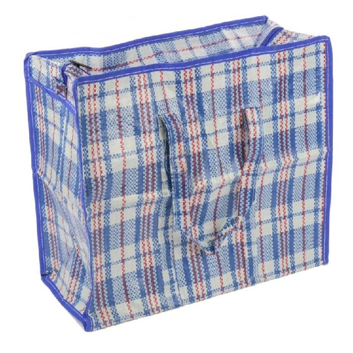 Хозяйственная сумка на молнии, 50х45х25 см, цвет синий