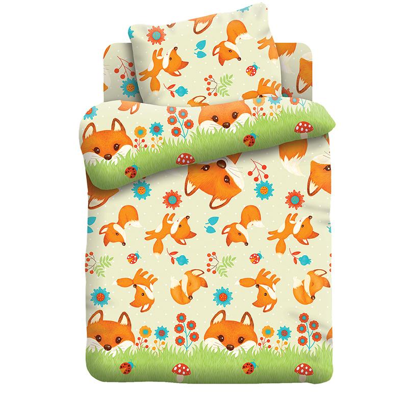 """Детское постельное белье """"Лисята"""",  рис.8741-1 (Кошки-мышки), 1.5сп."""