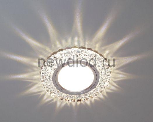 Точечный Светильник OREOL Crystal 7603S 88/60mm Под Лампу MR16 Белый