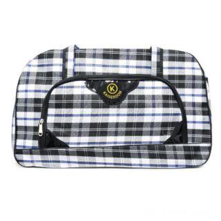 Дорожная сумка Саквояж, 52х19х33 см, Цвет узора: Синий
