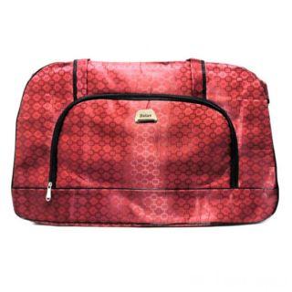Дорожная сумка Саквояж, 62х21х37 см, Цвет: Красный