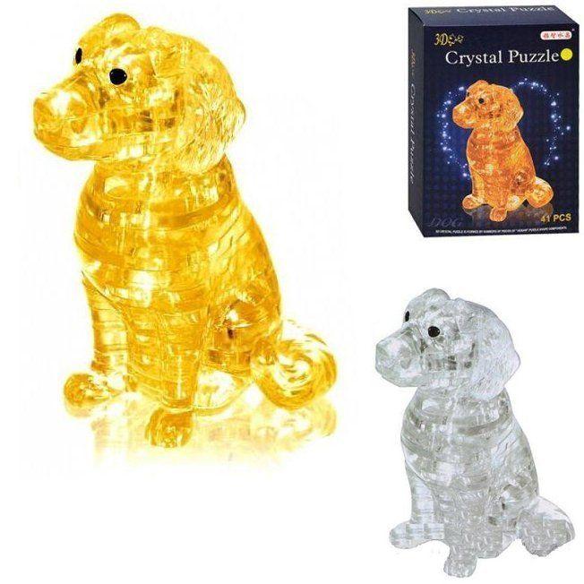 3D-пазл Crystal Puzzle собака щенок со светом (9039A)
