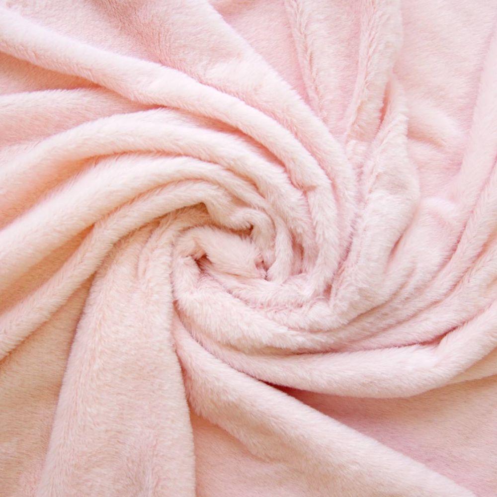 Мех длиноворсовый  50*40 см нежно-розовый
