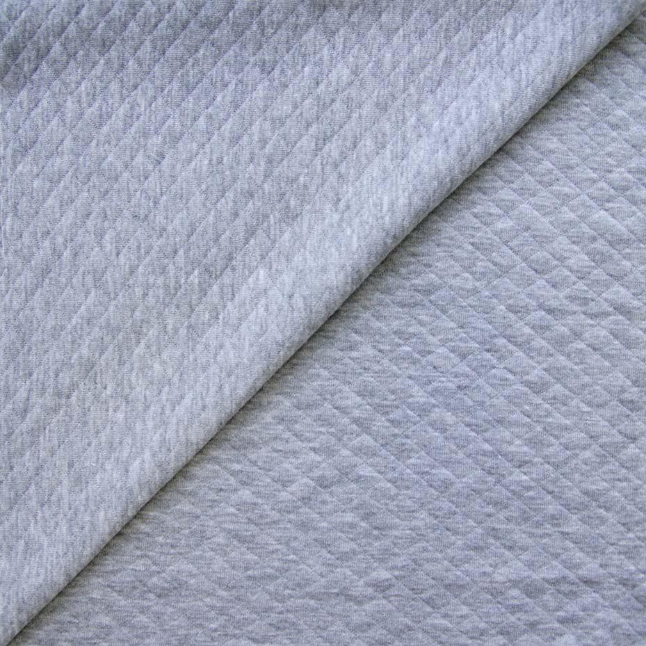 Лоскут трикотажной Стеганка -  серый меланж