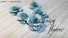 """Бумажные розы """"Голубая высь"""""""