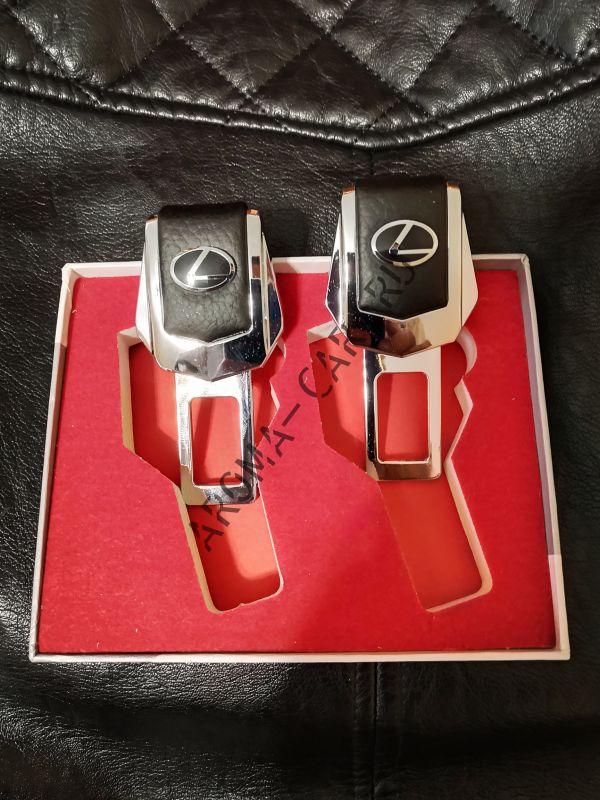 Заглушка для ремня безопасности с логотипом Lexus ( комплект)