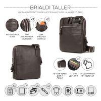 Вертикальная сумка через плечо BRIALDI Taller (Таллер) relief brown