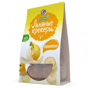 Льняные крекеры с бананом, 50 гр