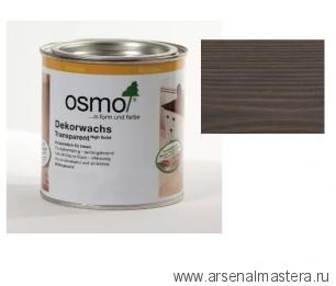 Прозрачная краска на основе цветных масел и воска для внутренних работ Osmo Dekorwachs Transparent Granitgrau 3118 Серый гранит 0,125л