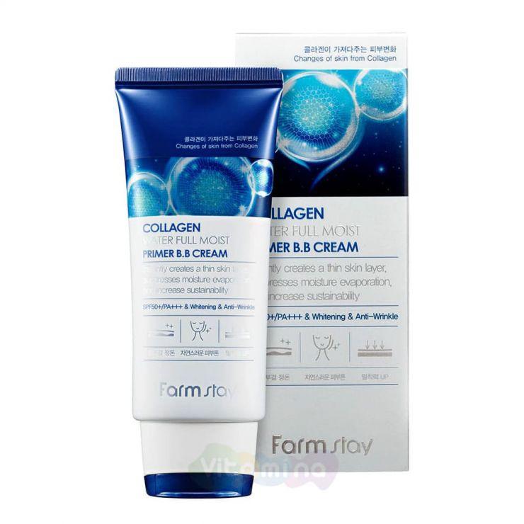FarmStay Увлажняющий ВВ-крем с коллагеном Collagen Water Full Moist Primer BB Cream, 50 мл