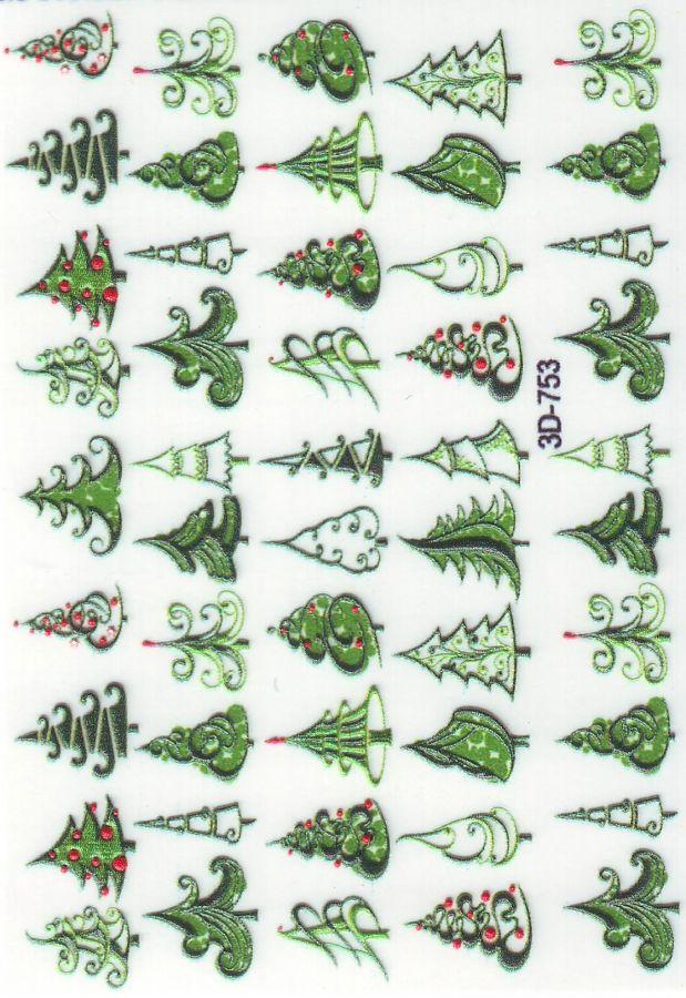 3D Слайдер-дизайн 3D 753 новогодние елочки