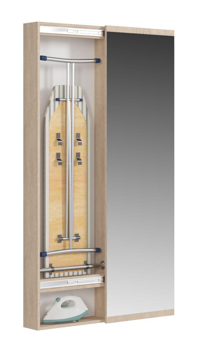Светлана (СП) Гладильный шкаф с зеркалом Дуб Сонома