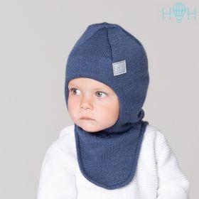 HOH ШЗ20-06851742 Шапка-шлем зимняя со светоотражающим шевроном, индиго