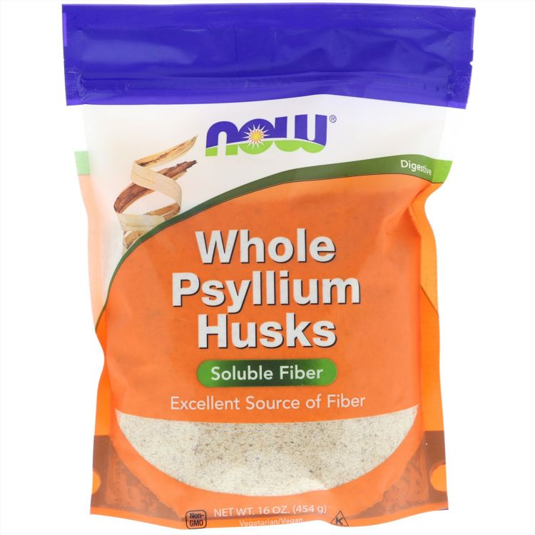 Цельная оболочка семян подорожника от Now Foods 454 гр