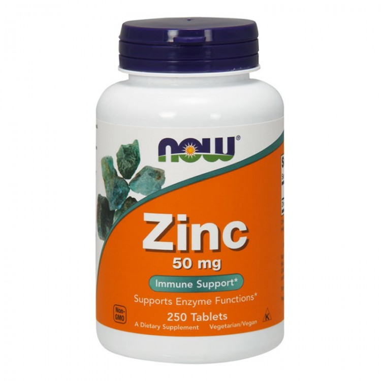 Zinc 50 mg от NOW food 250 таб