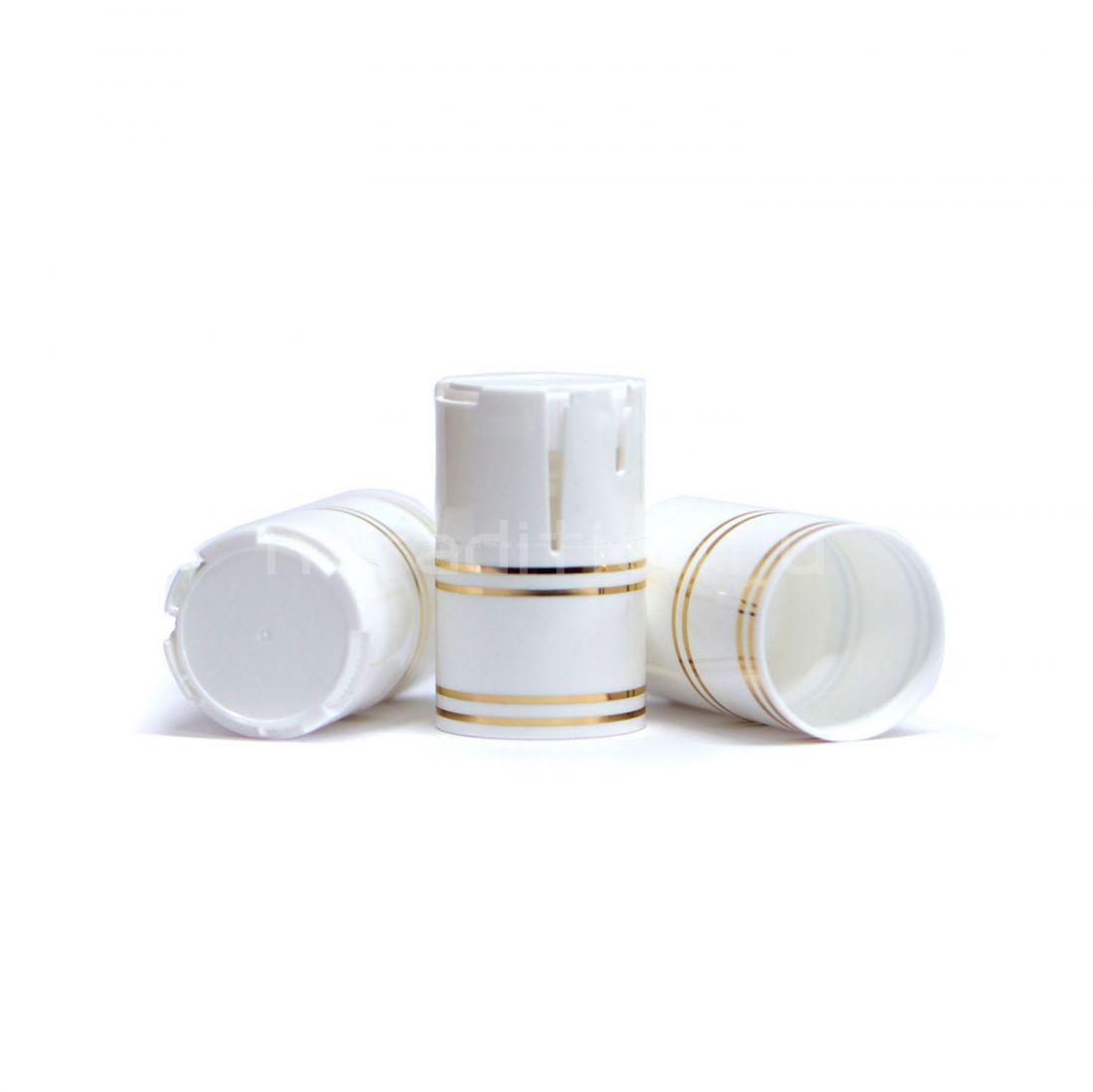 Пластиковый колпачок на бутылку винт 28*18 мм, 10 шт (белый)