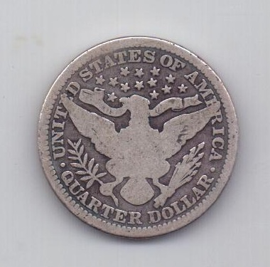 1/4 доллара 1900 года Редкий год США
