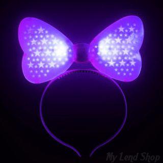Светящийся ободок Бант, Фиолетовый