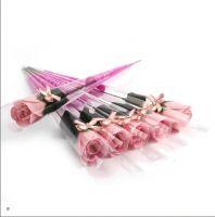 Роза из парфюмированного мыла I Love You, 40 см, цвет светло-розовый