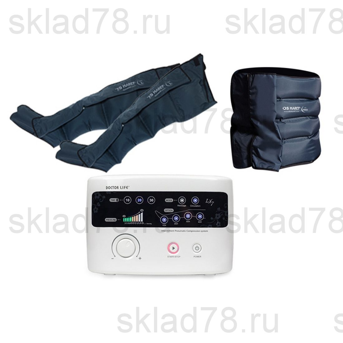 """Doctor Life LX-7 лимфодренажный аппарат """"Ноги + Пояс"""""""
