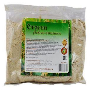 Отруби рисовые, очищенные, 200 гр