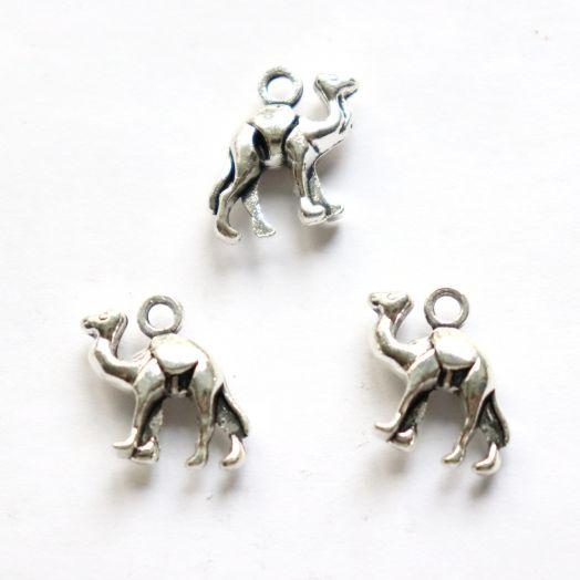 Подвески металлические, Верблюд, 15 мм, тибет.серебро, 4 шт/упак