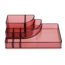 Акриловый органайзер для косметики Multi-Functional Storage Box QFY-3118, Бордовый