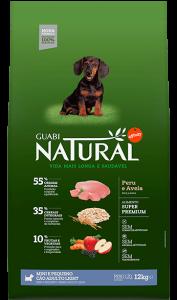 Guabi Natural для взрослых собак мелких пород облегченный 12 кг Индейка + овес