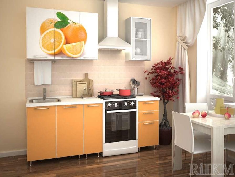 Кухня ЛДСП 1,5 м с фотопечатью
