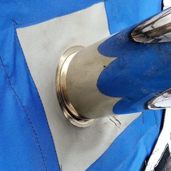 Окно-Разделка для палатки с окном 25х25см под трубу 99 мм из стеклоткани