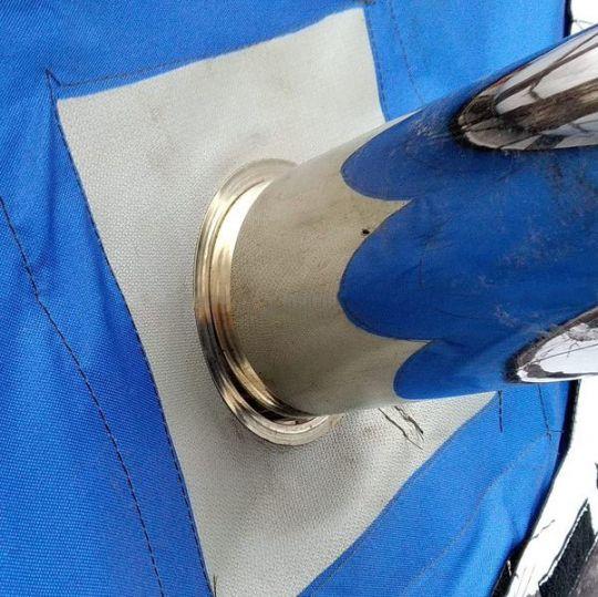 Окно-Разделка для палатки с окном 25х25см под трубу 65 мм из стеклоткани