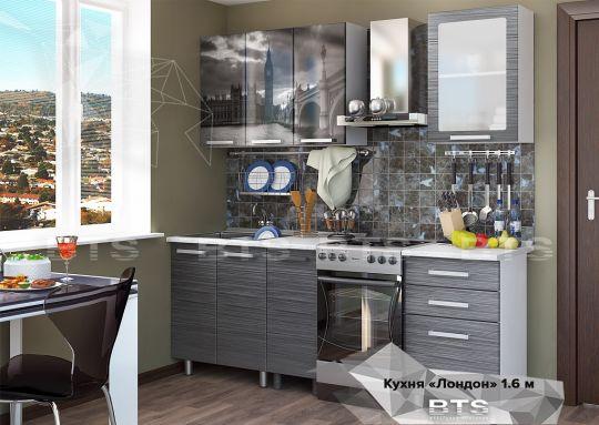 Кухня МДФ 1,6 м с фотопечатью